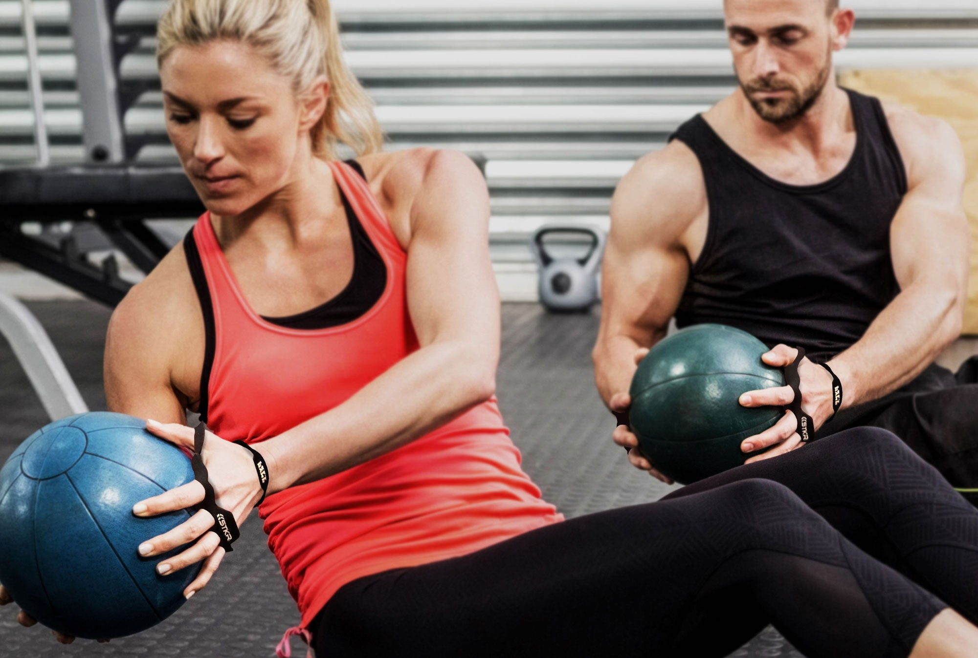Use Gym Skins training with medicine balls