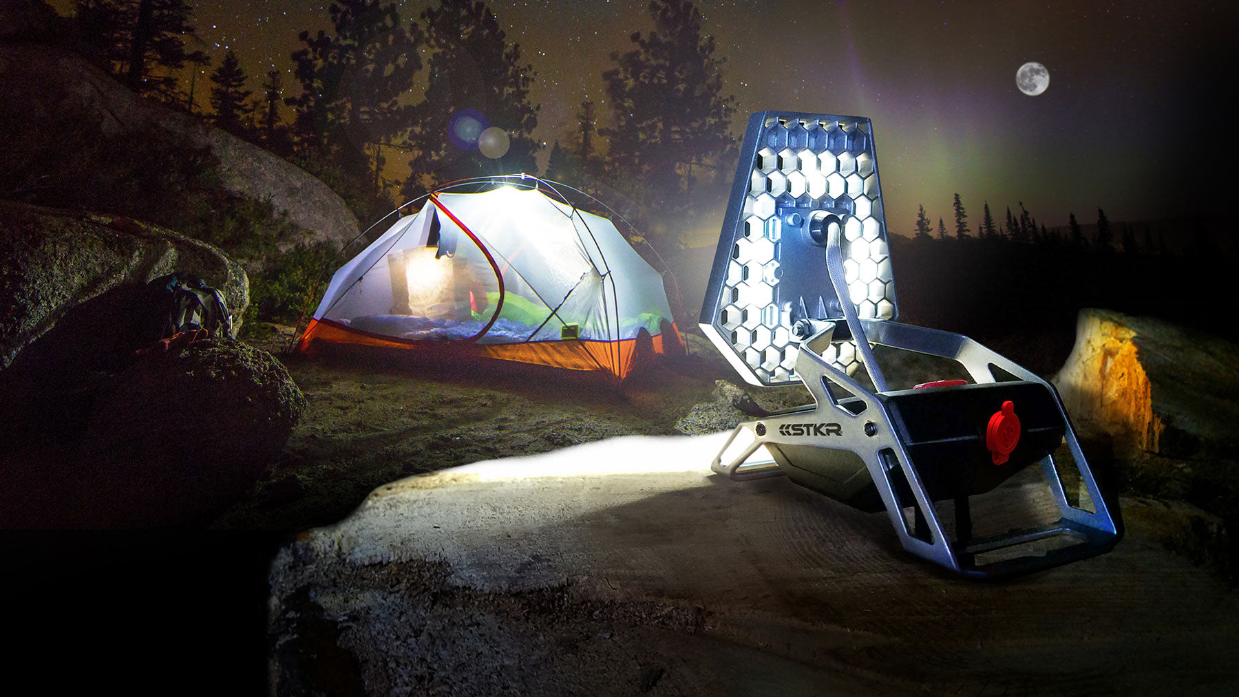 STKR Concepts Mobile Task Light - LED portable camping light - striker