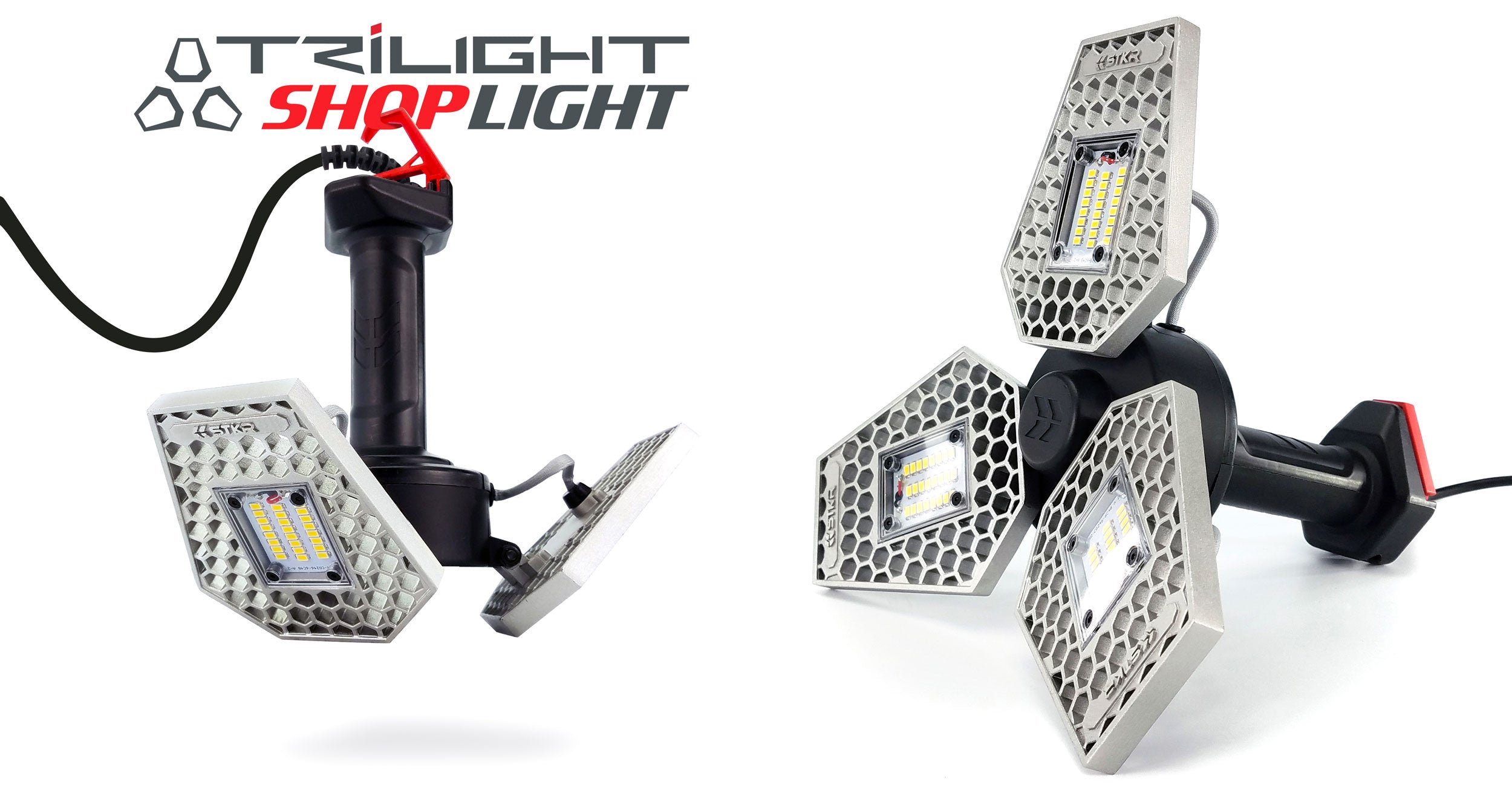 STKR Concepts TRiLIGHT ShopLight - 2-in-1 Shop Light and Drop Light - Striker