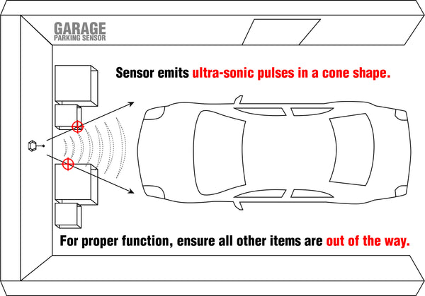 Garage Parking Sensor - sensor location