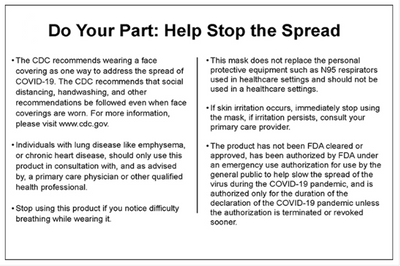 Do Your Part: Help Stop the Spread of COVID-19 - CDC Recommendation