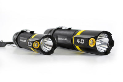 BAMFF dual LED flashlight available in different size and lumen levels | STKR Concepts - striker flashlight