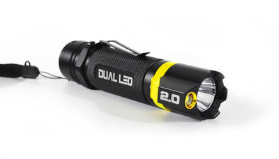 BAMFF 2.0 dual LED flashlight in yellow | STKR Concepts - striker flashlight