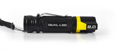 BAMFF 2.0 dual LED flashlight side view yellow version | STKR Concepts - striker flashlight