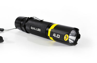 DUAL LED 4.0XL dual LED flashlight long distance and area lighting in one | STKR Concepts - striker flashlight