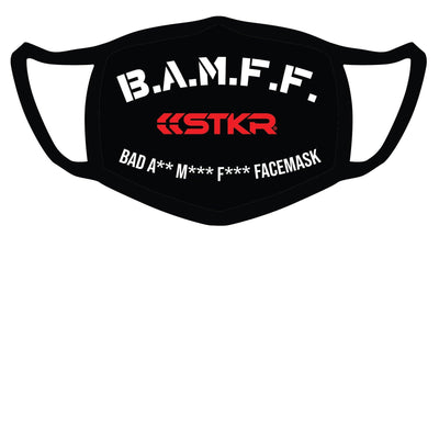 Face Mask - Prevent COVID-19 spread with B.A.M.F.F. Cloth Face Mask Covering by Risk Racing