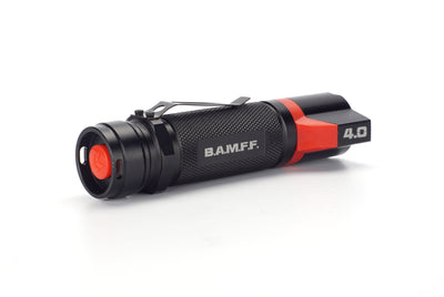 BAMFF 4.0 dual LED flashlight with tactical tail switch position | STKR Concepts - striker flashlight