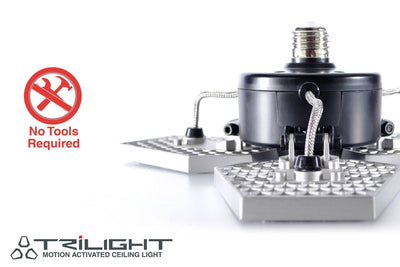 No tools required to install motion sensing LED light bulb | TRiLIGHT by STKR Concepts - striker