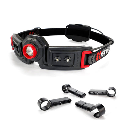 STKR Concepts FLEXIT Headlamp 2.5 with hard hat/helmet clips