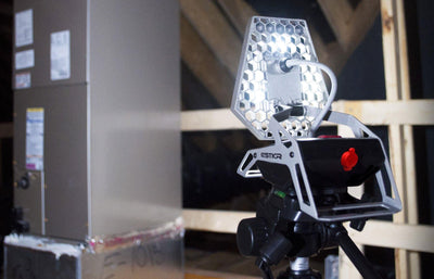 Hands-free rechargeable Mobile Task Light mounted on Tripod | STKR Concepts - striker
