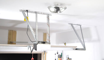 Upgrade dim light bulb in garage with bright LED motion sensing light - TRiLIGHT | STKR Concepts - striker