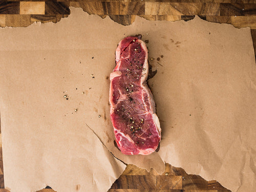 Shipley Farms New York Strip Steak in the 4th of July Deluxe package