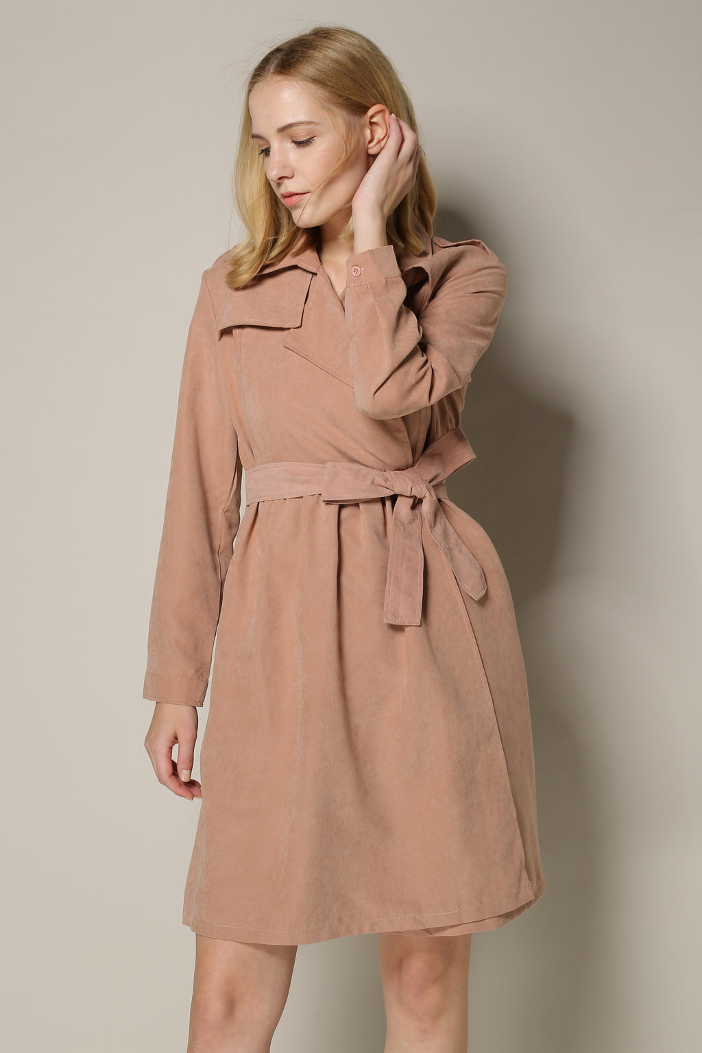 Rosy Brown Trench Dress