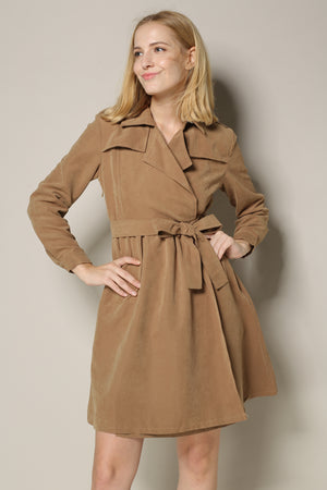 Camel Trench Dress