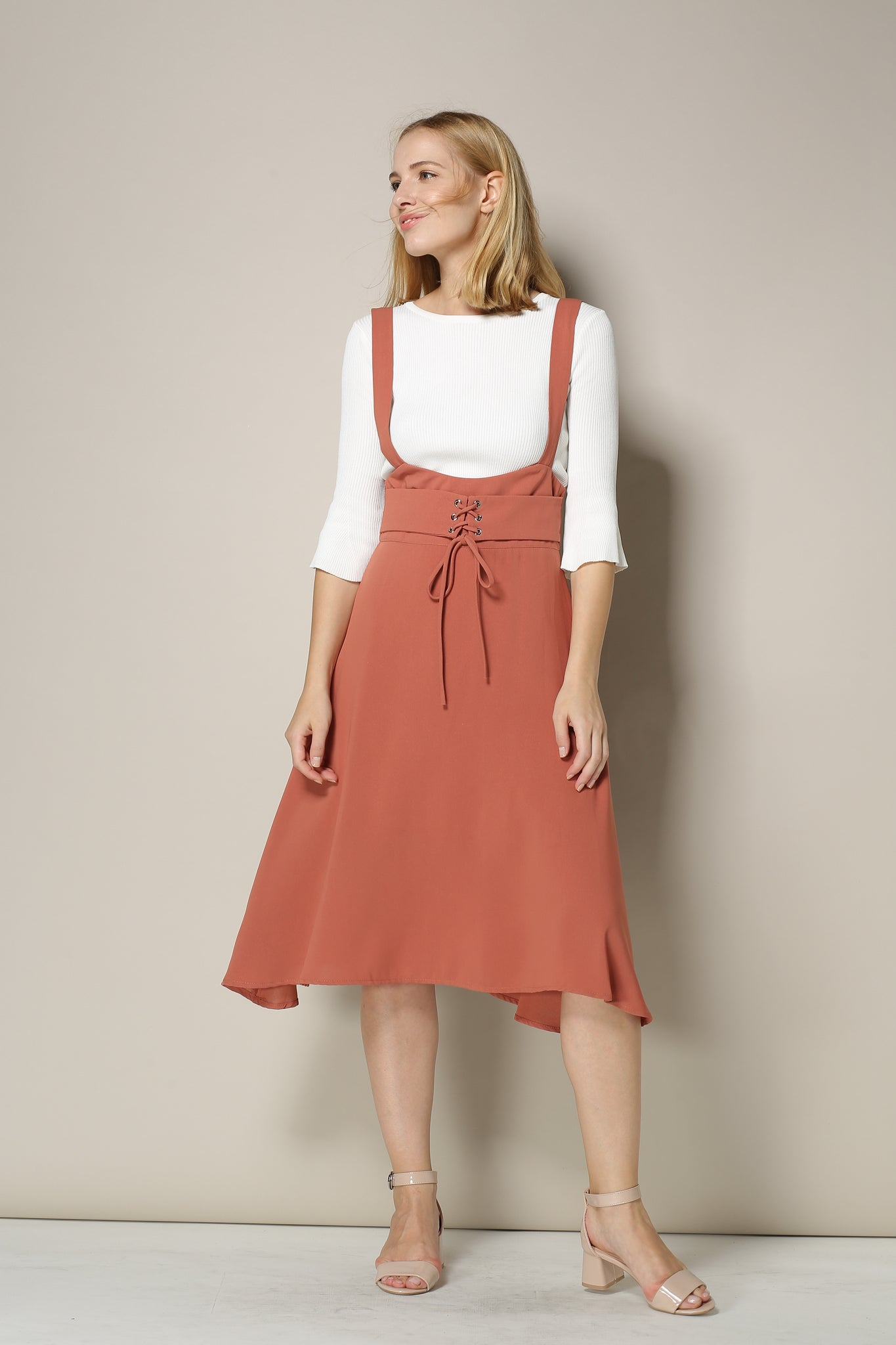 Coral Jumper Dress