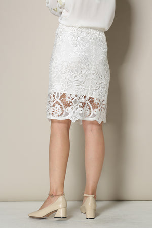 Elaborate White Lace Skirt