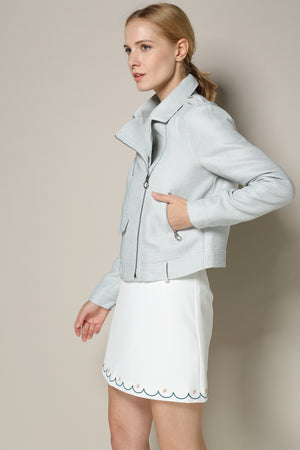 Light Mint Biker Jacket