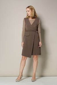 Dark Brown Jumper Dress