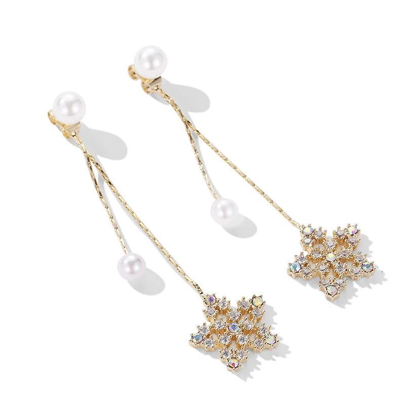 DANIYA Flower Drop Earrings