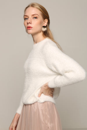 Mohair White Sweater