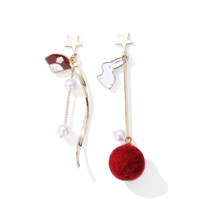 Natalie Asymmetrical Drop Earrings
