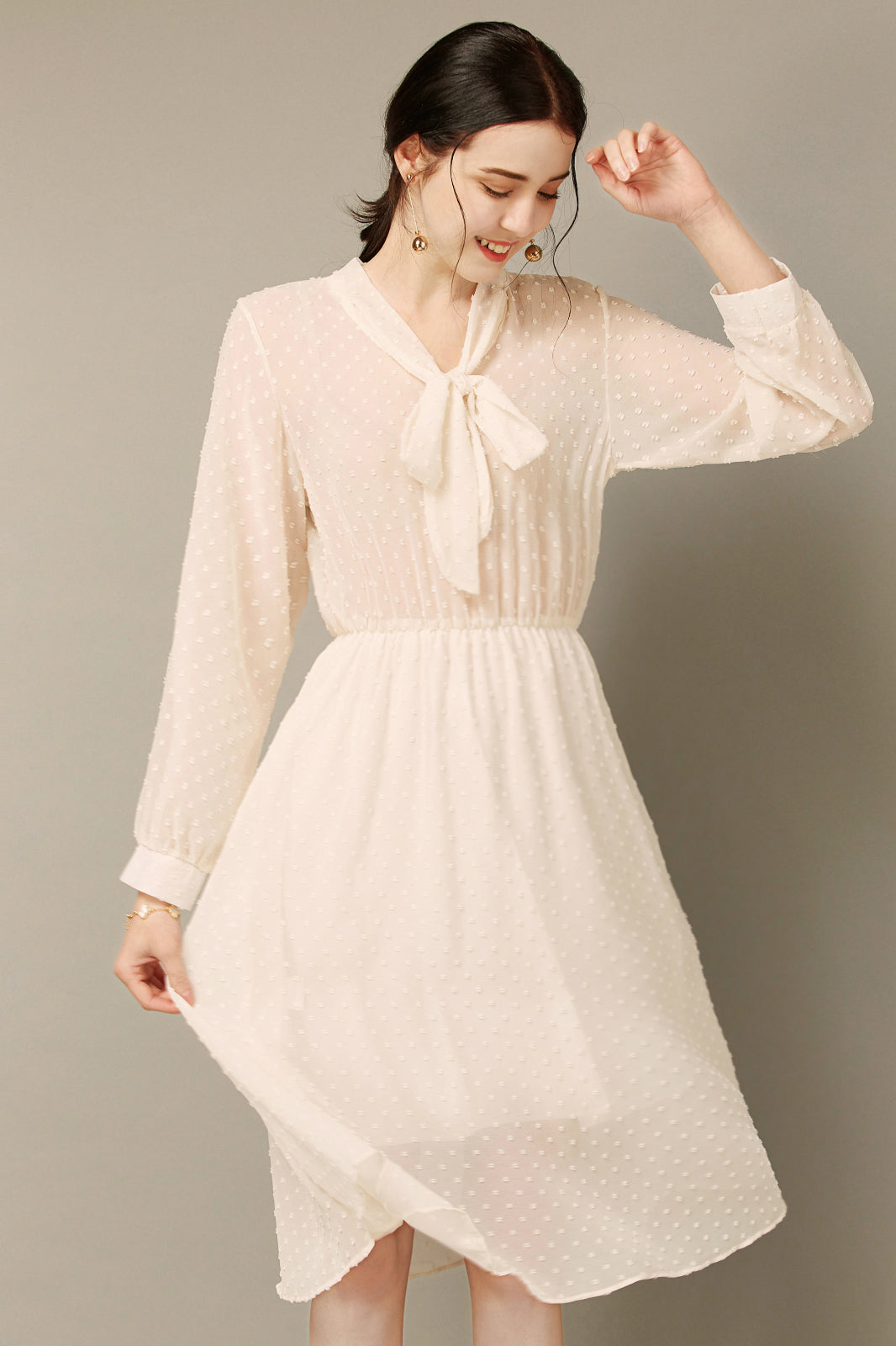 White Semi Sheer Dress With Vest