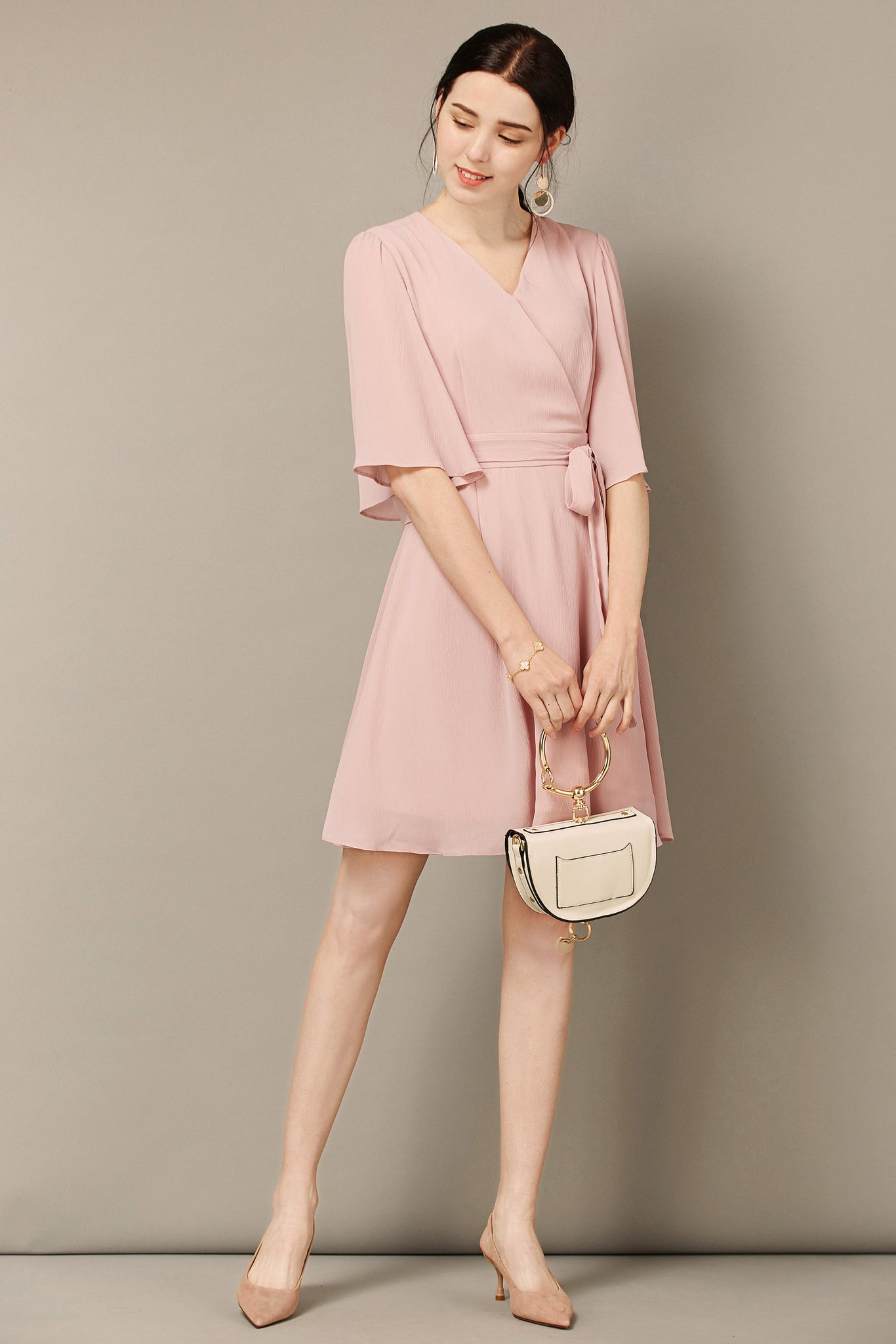 Blush Pink Flowy Dress