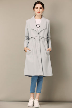 Light Blue Trench Coat