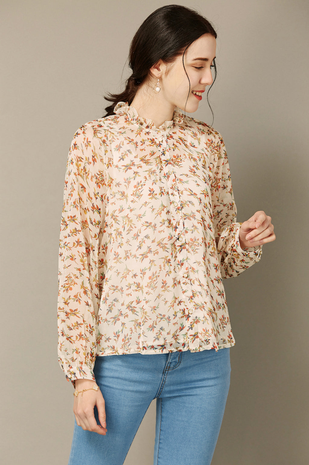Floral Button Up Blouse