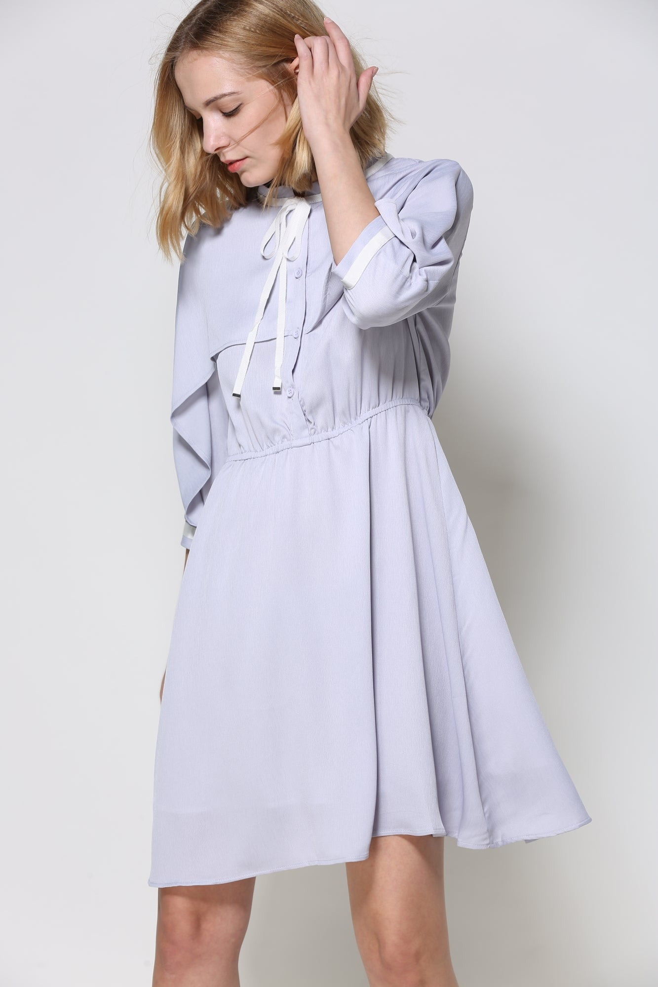 Lavender Shirt Dress