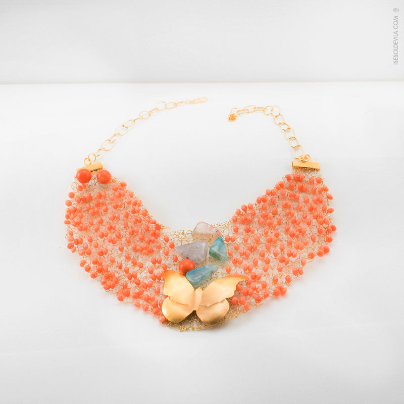 Collar Amelie - Coral