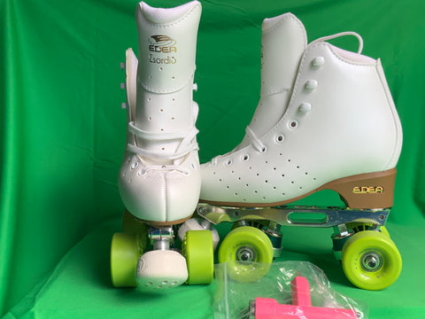 SALE! FULL SKATE SETUP Sizes 220 to 250_ EDEA Ivory Esordio Boot + Queen Skate Beginner Artistic.
