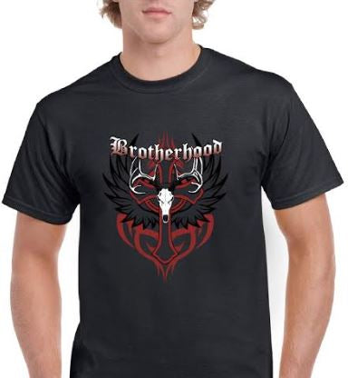 Brotherhood Short Sleeve T-Shirt - Black  SIZE XL (Extra Large)