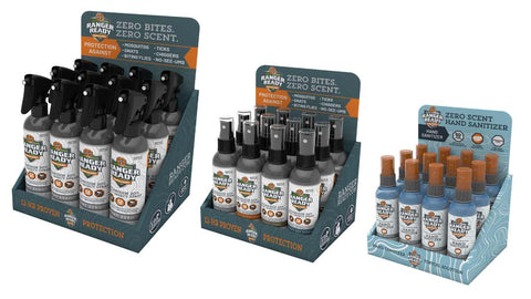 Ranger Ready Repellents and Hand Sanitizer Displays