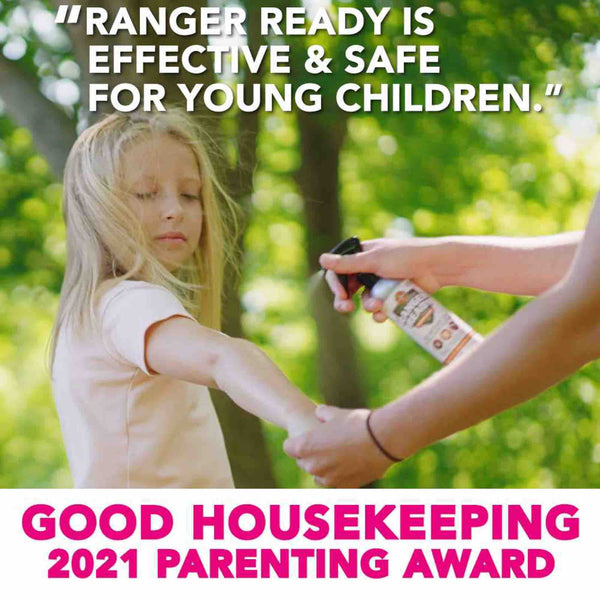 Ranger Ready Picaridin Bug Spray Wins Good Housekeeping 2021 Parenting Award - The Best Tick Repellent for Kids