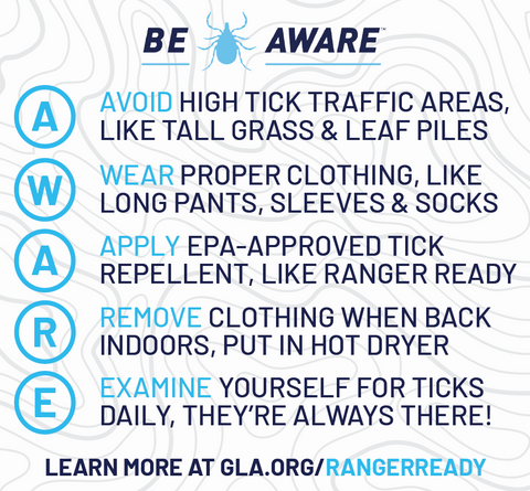 How to prevent tick bites - be tick aware with Global Lyme Alliance and Ranger Ready Picaridin Tick Repellent
