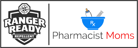 Partnership Logo: Ranger Ready Repellents, a premium brand of insect repellent, and Pharmacist Moms Group (PhMG™), an influential group of 35,000 women pharmacists in the U.S.