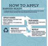 <b>Ranger Ready Hand Sanitizer</b><br>3 Pack | 100ml, 3.4 oz<br>Zero Scent