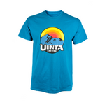 Summer Tee 'Sunset Mountain' short sleeve - Blue