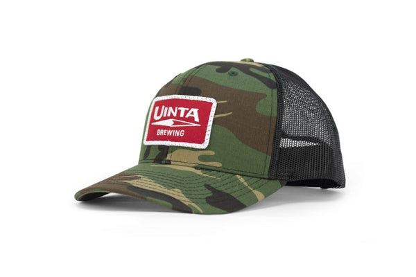 Classic 6 Panel Trucker Hat - 112P - Camouflage/Black