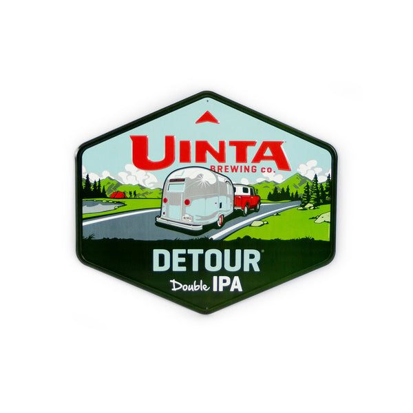 "Detour Double IPA 17.5"" Aluminum Sign"