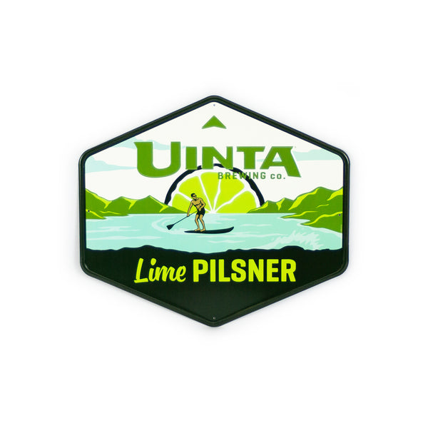"Lime Pilsner 17.5"" Aluminum Sign"