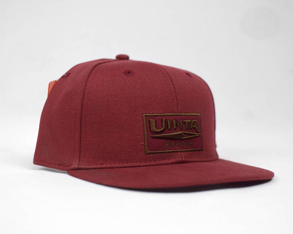 Maroon 6 Panel Flat Brim Hat