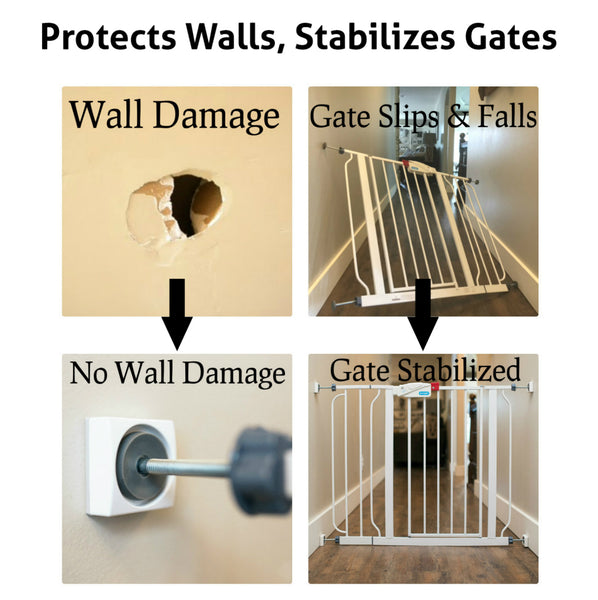 dog gate wall cups