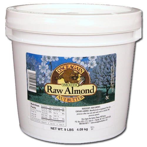 Almond Butter, Smooth, Raw 9 lbs