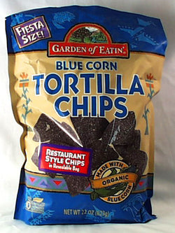 Blue Corn Tortilla Chips, Fiesta Siz