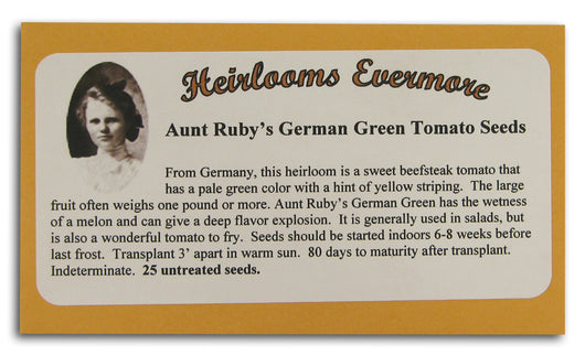 Aunt Rubys German Green Tomato Seeds