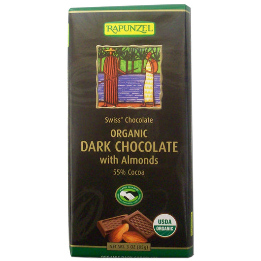 Dark Chocolate w/Almonds, Org