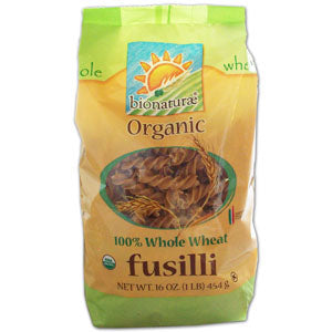 Fusilli 100% Whole Wheat, Organic