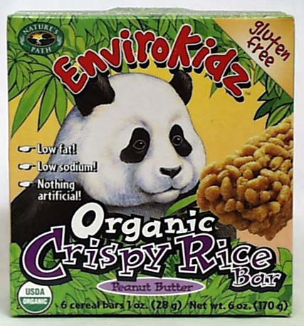 Crispy Rice Bar PntBtr, Organic